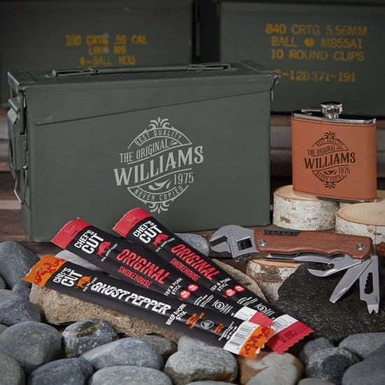 Beef Jerk Ammo Can Gift Set