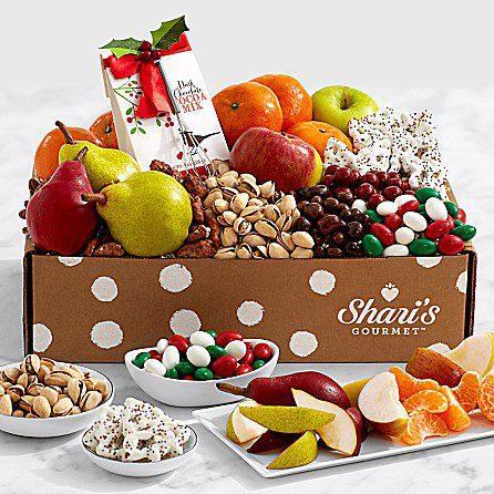 Gourmet Food Christmas Gift Basket