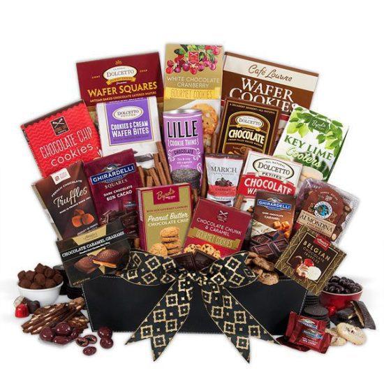 Chocolate Gift Basket for Christmas