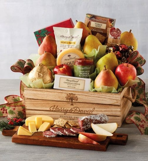 Christmas Crate with Meats and Cheeses
