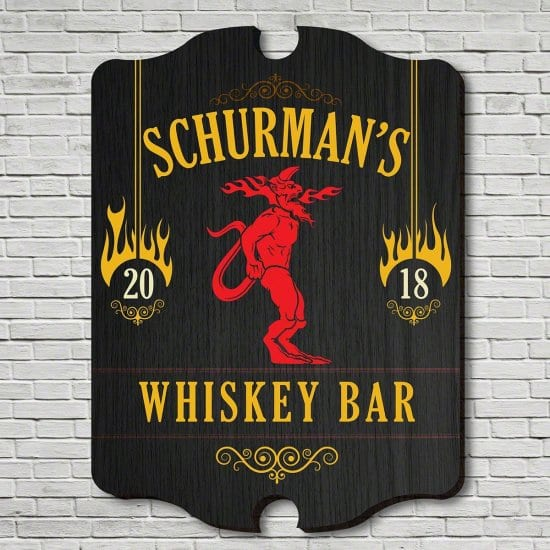 Personalized Wood Bar Sign for College Students