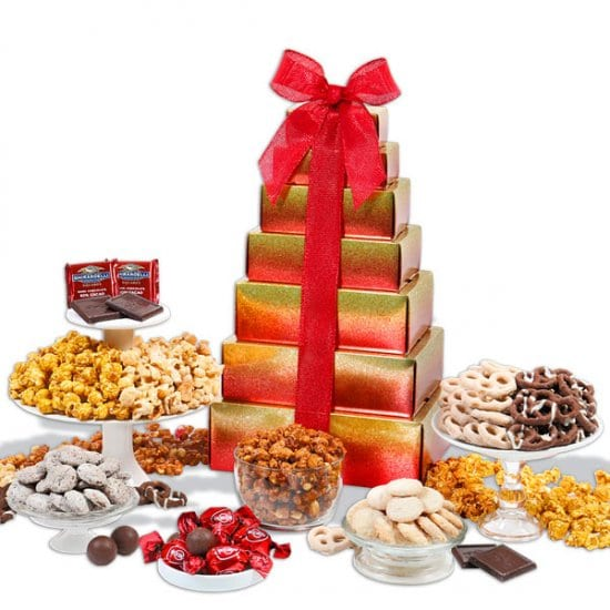 Sweet and Salty Holiday Gift Tower