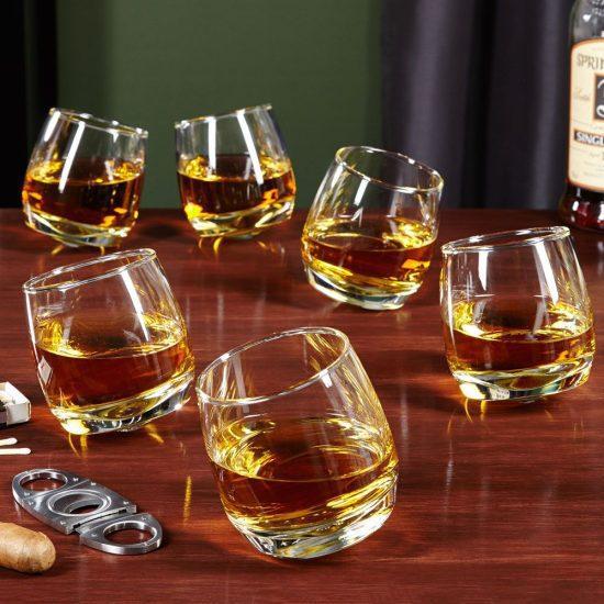 Set of Six Rolling Whiskey Glasses