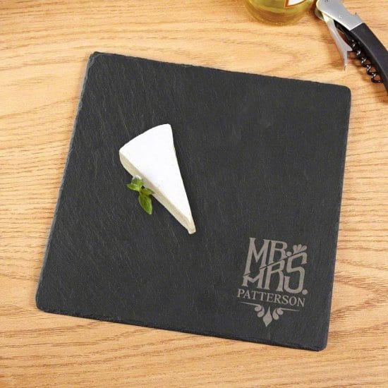 Custom Slate Cheese Tray - Unique Wedding Gift Idea
