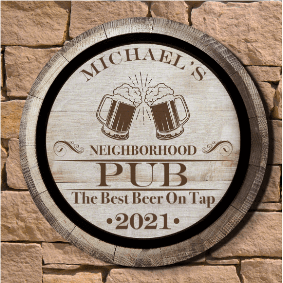 Personalized Wood Tavern Sign