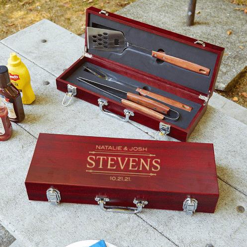 Custom Rosewood Grilling Tools