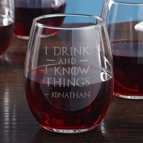 Funny Personalized Wine Glass for Valentine's Day