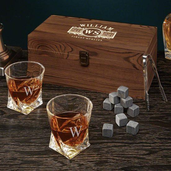 Custom Twisted Whiskey Glasses Box Set