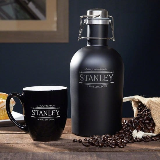Personalized Coffee Mug and Travel Carafe Gift Set for Boyfriend