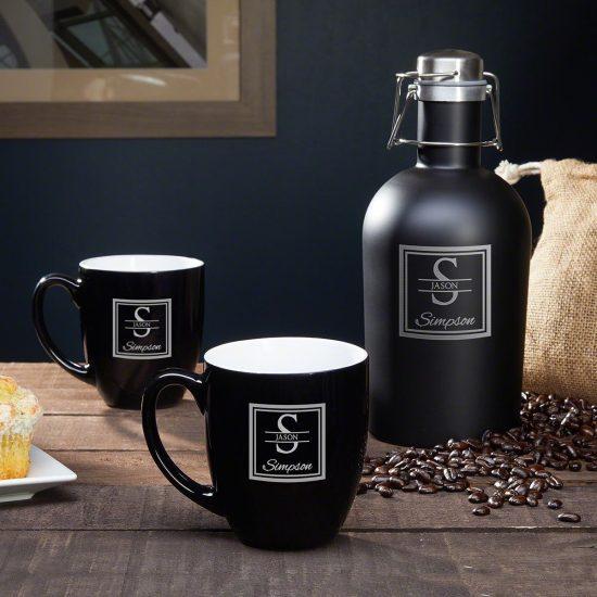 Custom Coffee Mugs and Travel Carafe