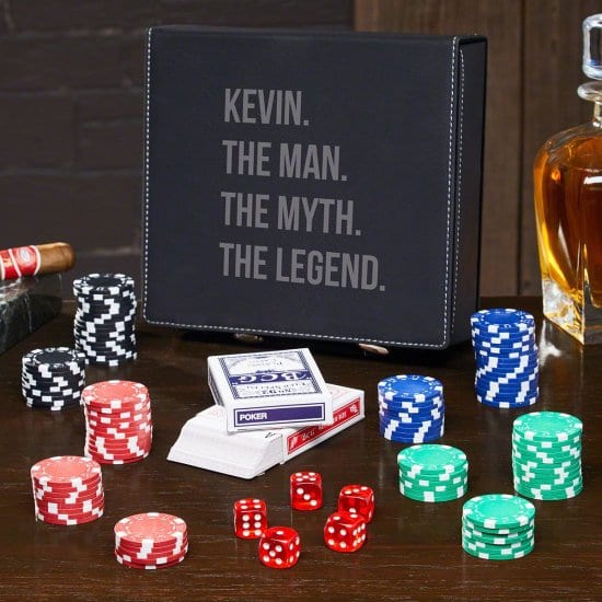 Personalized Poker Set with Carrying Case