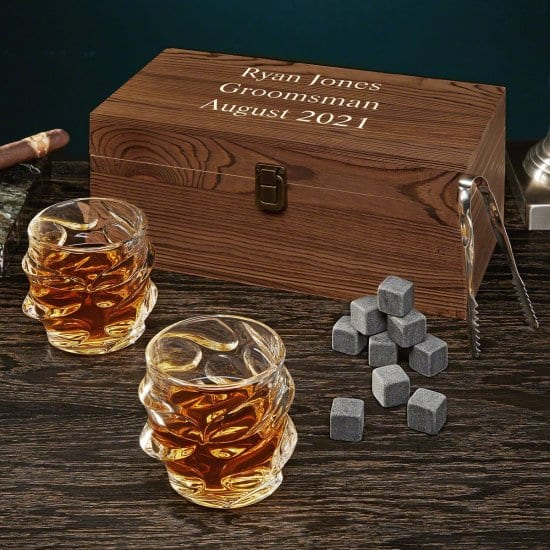Custom Box Set for Men with Unique Whiskey Glasses