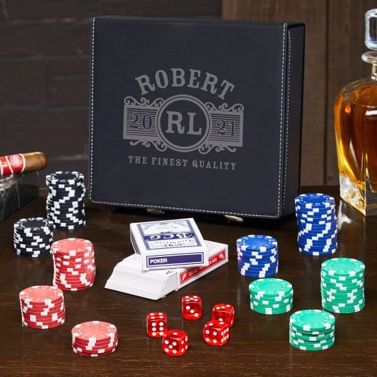 Personalized Poker Set for Men