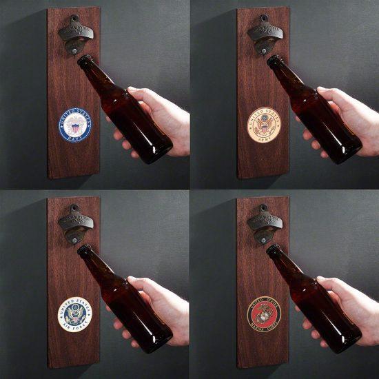 Military Crest Bottle Opener