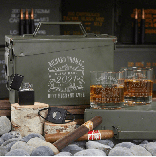 Unique Gifts for Husband Personalized Ammo Can Set