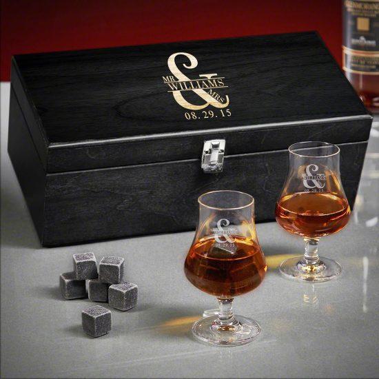 Custom Whiskey Unique Wedding Gifts Box Set