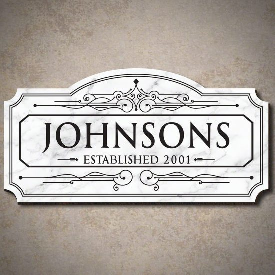 Personalized Marble Sign