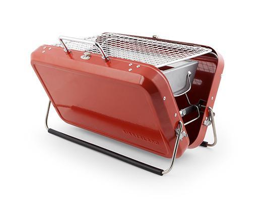 Red Briefcase BBQ Set