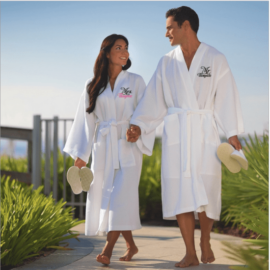 His and Hers Cotton Personalized Robes