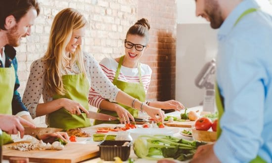 Give the Bride and Groom a Cooking Class