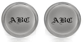 Monogrammed Titanium Cufflinks