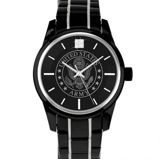Black U.S. Army Watch for Military Retirement