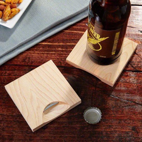 Bottle Opener Wooden Coasters