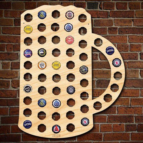 Beer Mug Bottle Cap Sign