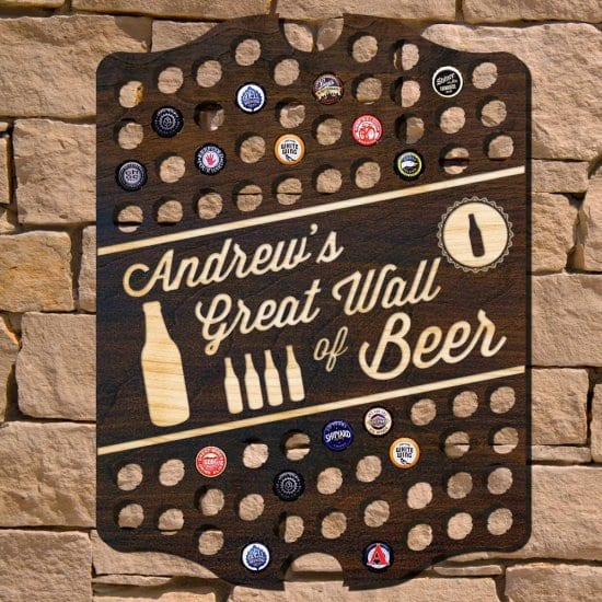 Great Wall of Beer Bottle Cap Sign