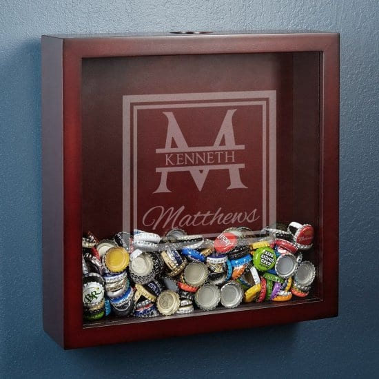 Personalized Shadow Box For Displaying A Collection