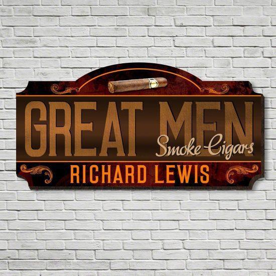 Custom Cigar Lounge Sign for Dad