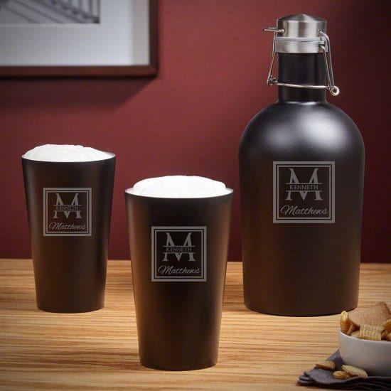 Insulated Beer Growler and Pint Glasses