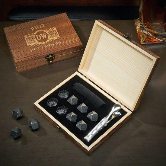 Black Onyx Whiskey Stones for the Whiskey Aficionado Boyfriend