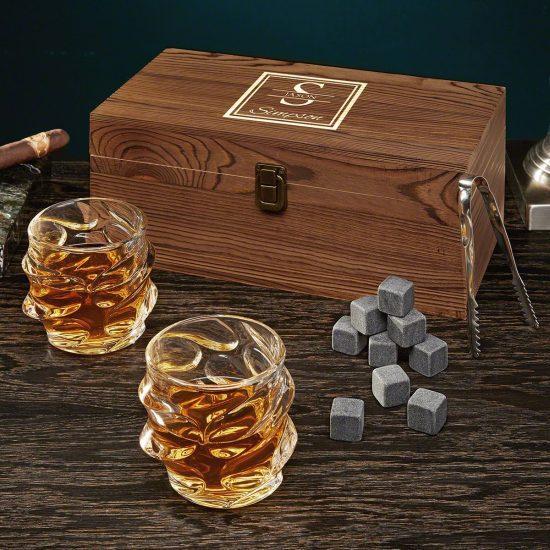 Sculpted Glasses Whiskey Set