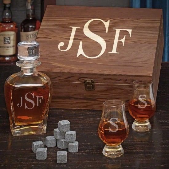 Personalized Decanter Set with Glencairn Glasses