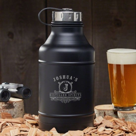 Black Stainless Steel Insulated Growler