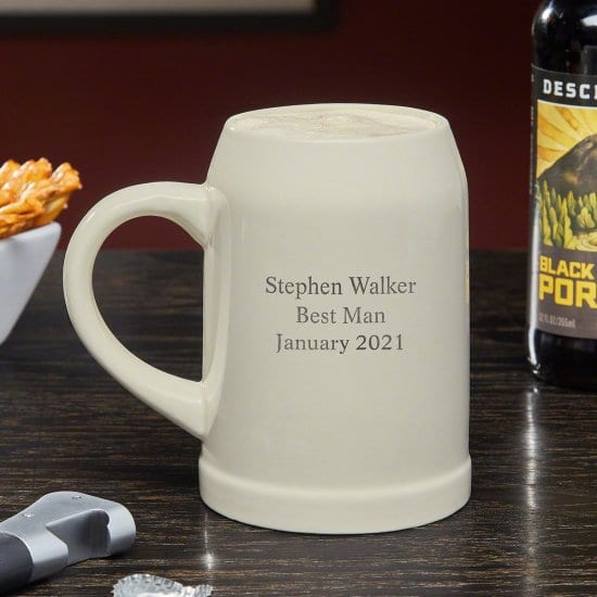 Personalized Ceramic Beer Stein for Brother-in-Law