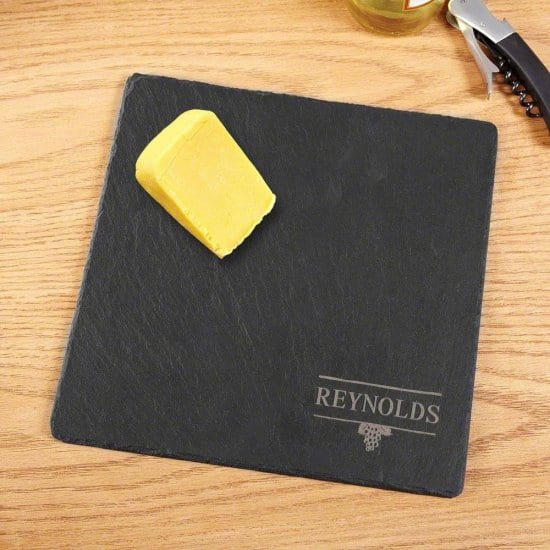 Engraved Slate Cheese Board is the Perfect Personalized Wedding Gift
