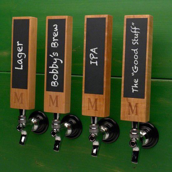 Monogrammed Chalkboard Beer Tap Handle