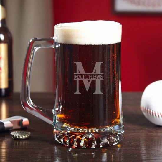 Custom Engraved Beer Mug for Boyfriend's Birthday