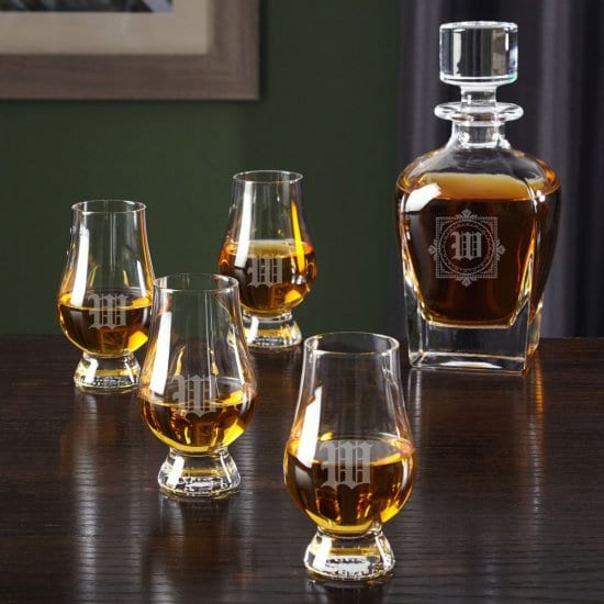 Personalized Decanter with Glencairn Glasses