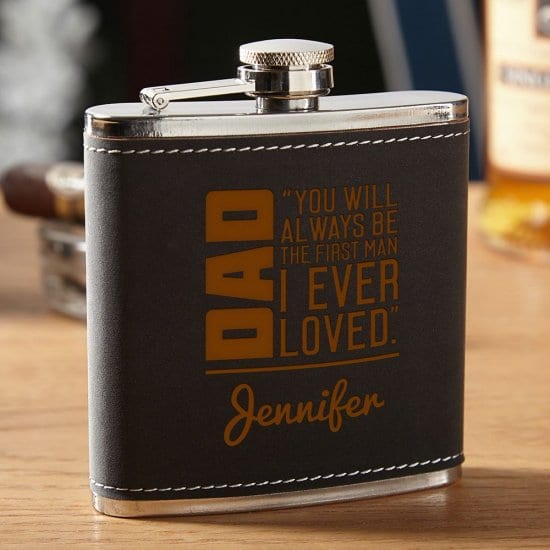 Personalized Flask for Father's Day From Daughter