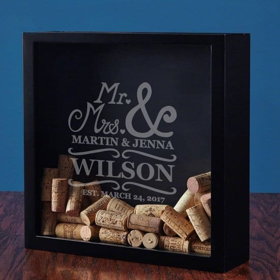Personalized Wedding Shadow Box for Collecting Together