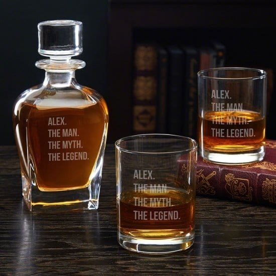 Personalized Decanter and Whiskey Glasses Set