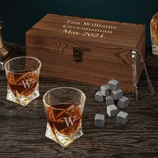 Personalized Whiskey Gift Set for Two