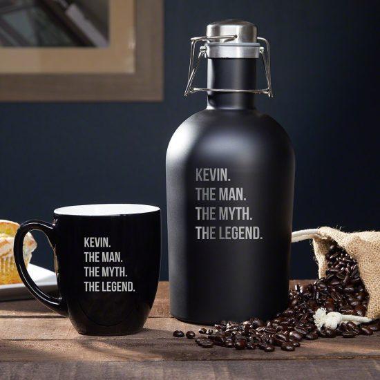 Custom Coffee Mug and Carafe Set