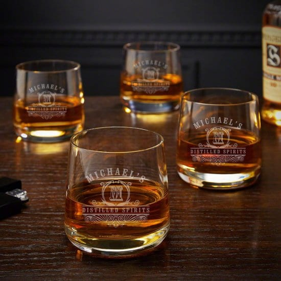 Four Benson Style Rocks Glasses