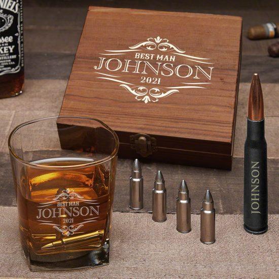 Bullet Whiskey Stone Birthday Gift Set