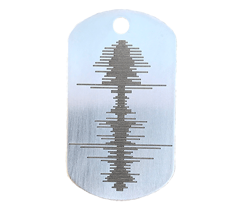 Engraved Custom Soundwave Dog Tag