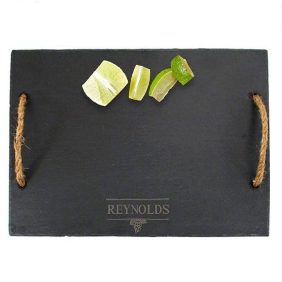 Engraved Slate Cheese Board with Handles